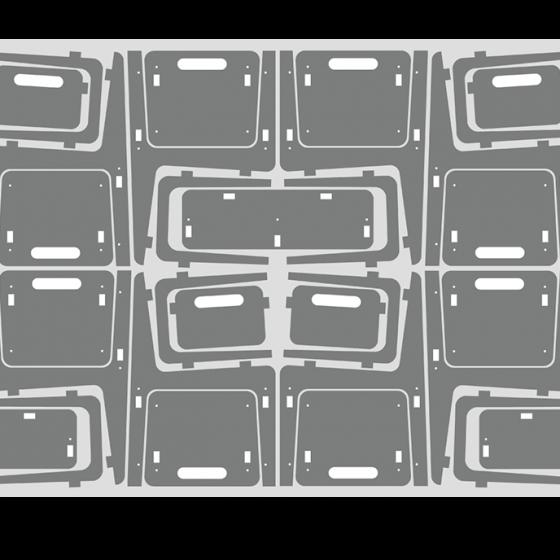 plano de corte sillas