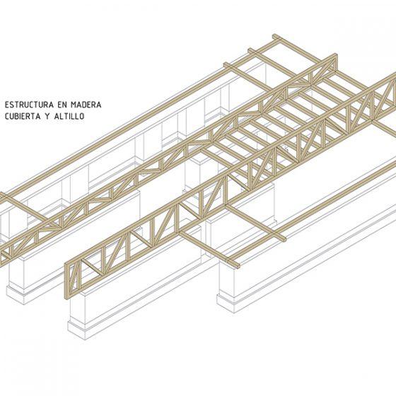 esquema de estructura de cubierta