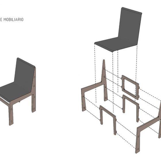 ensamble de mobiliario deck restaurante