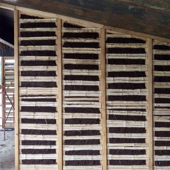 Proceso de construcción de mamposterias de bahareque