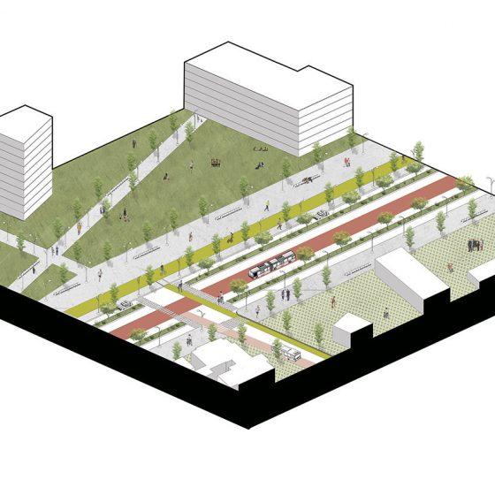 isometría corredor bicentenario
